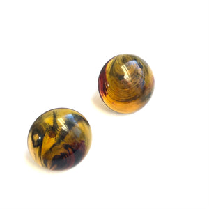 tortoise retro button studs