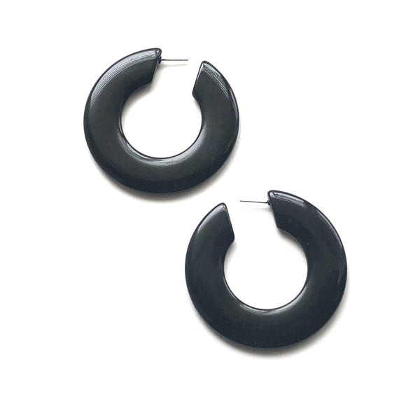 huge black earrings