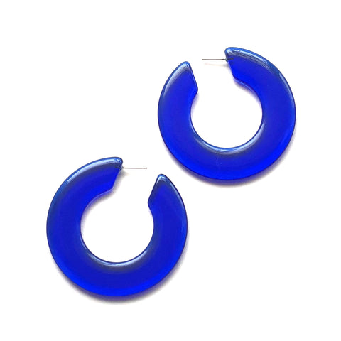 huge blue hoops