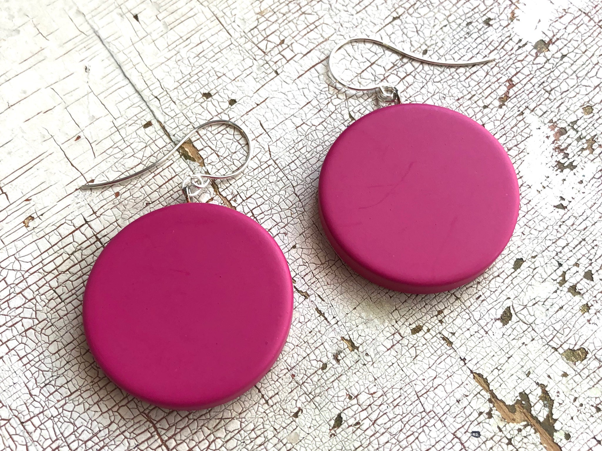 magenta earrings