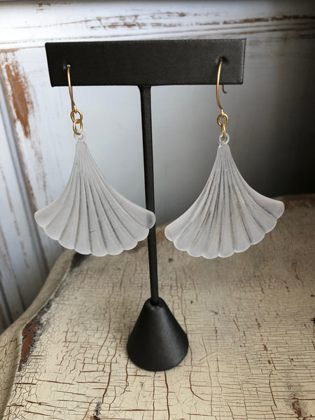 huge scalloped earrings