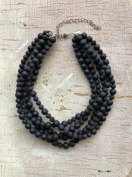 black sylvie necklace