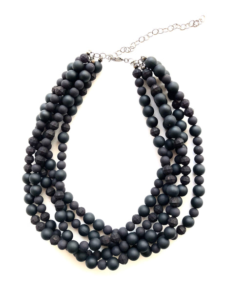 matte black necklace