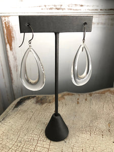 clear teardrop earrings