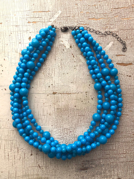 bright aqua necklace