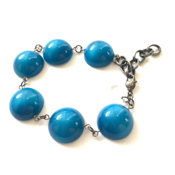 aqua blue moonglow bracelet