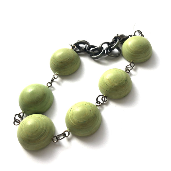 bright green lucite bracelet