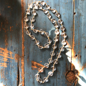 clear rope necklace