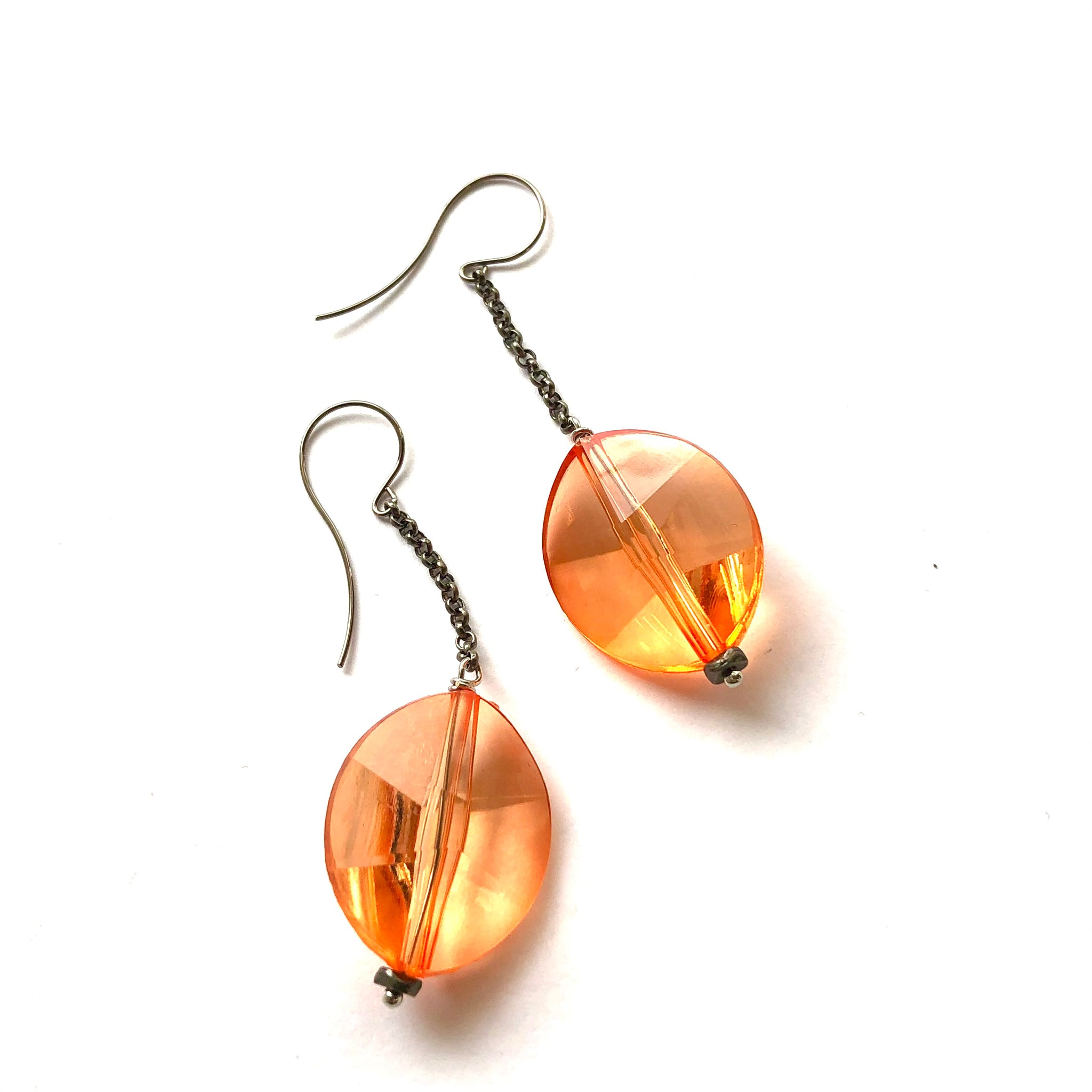 Faceted Sunshine Chain Drop Earrings