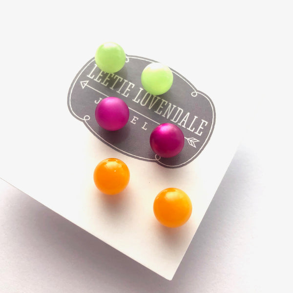 moonglow lucite studs