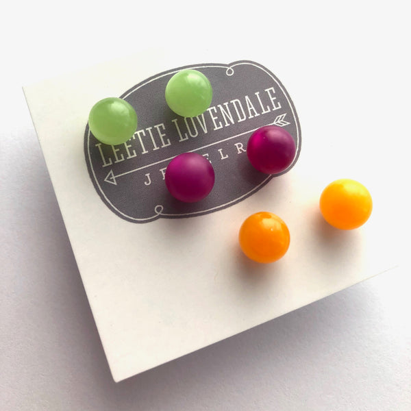 bright colored studs