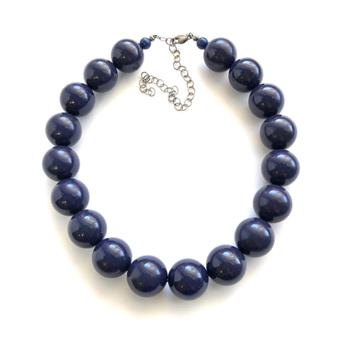 navy blue lucite necklace