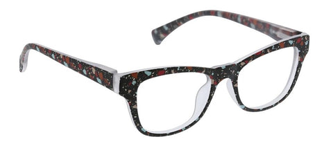 paint spattered glasses