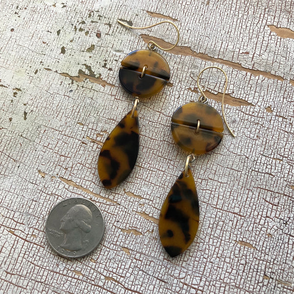 tortoise acrylic earrings