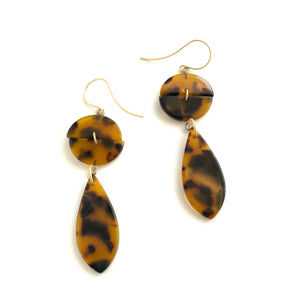modern retro tortoise earrings
