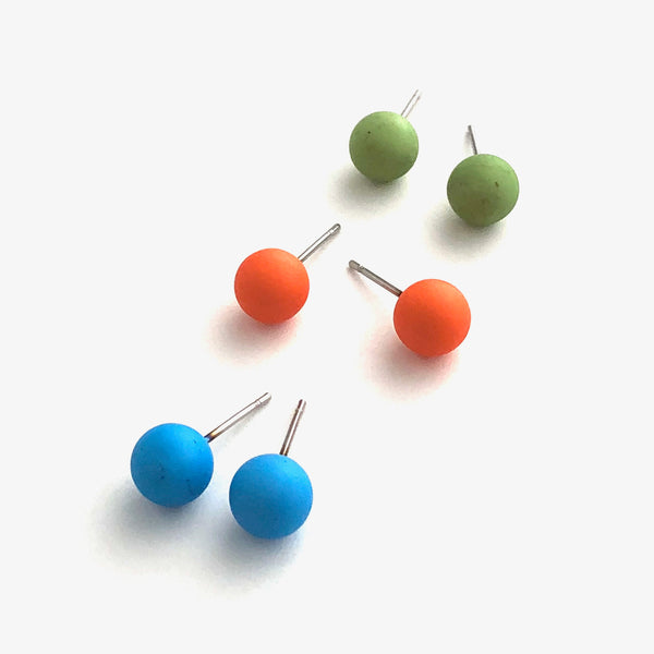 fruit stud earrings