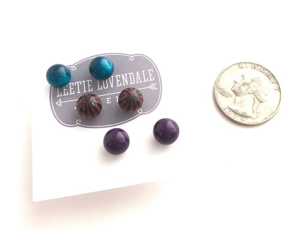 purple moonglow studs