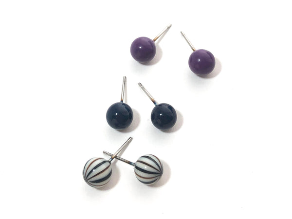 lucite striped studs