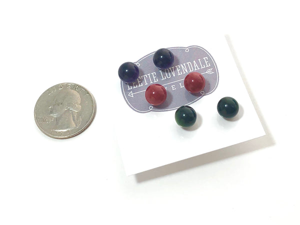 gemstone color studs