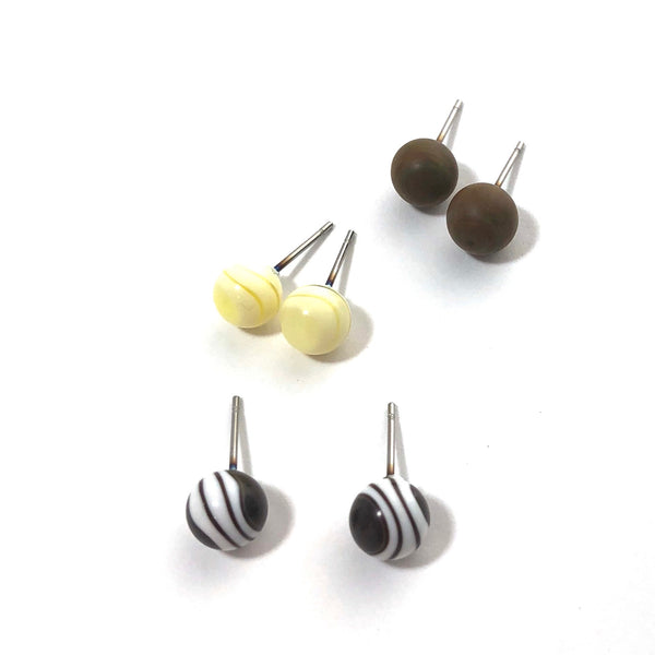 brown lucite studs