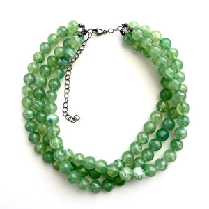 sage green necklace
