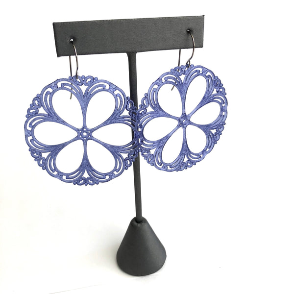 lace blue earrings