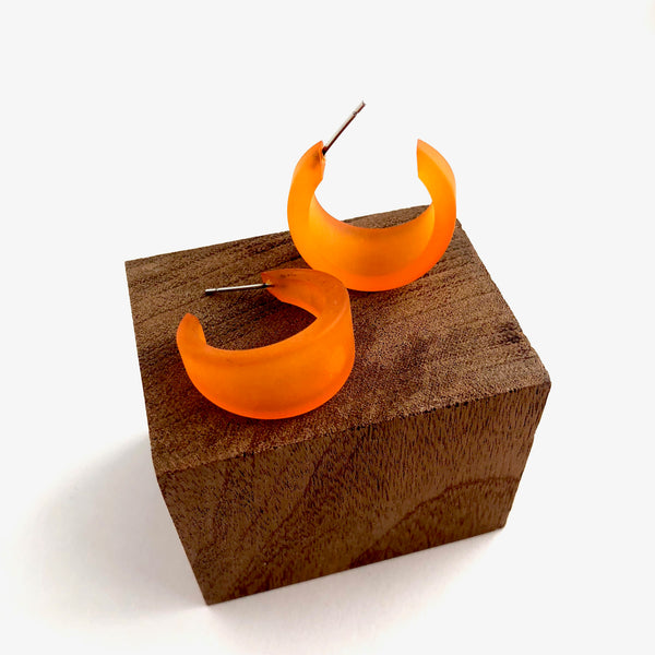vintage orange earrings