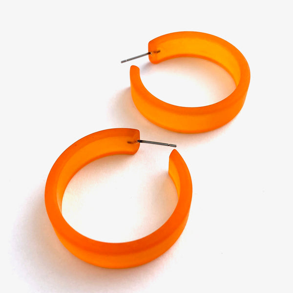 huge orange hoops