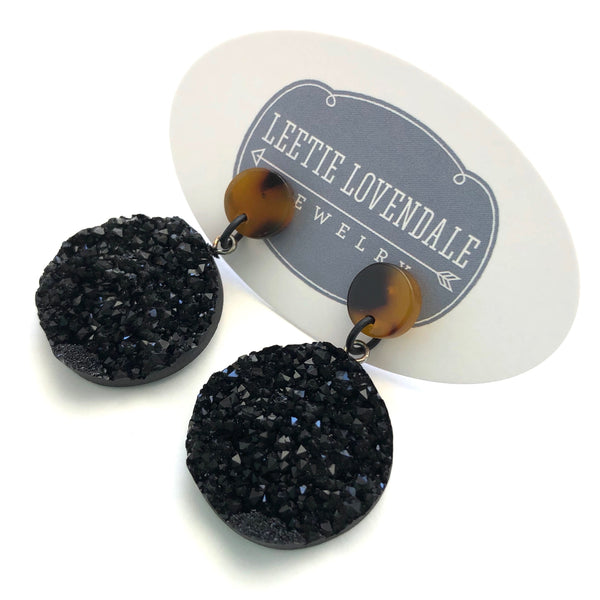 black tortoise earrings