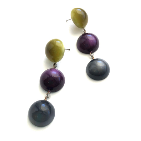 olive purple earrings