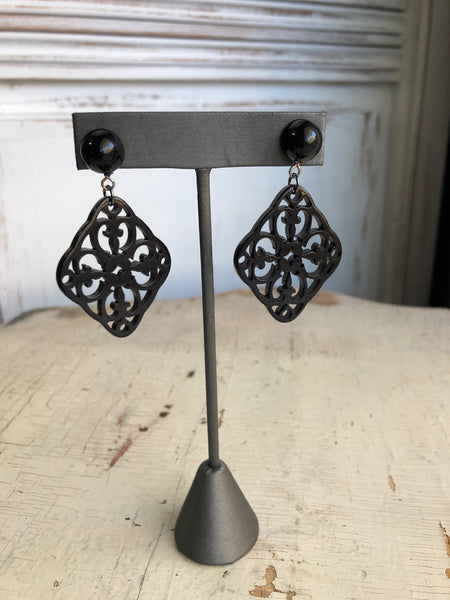 black boho earrings