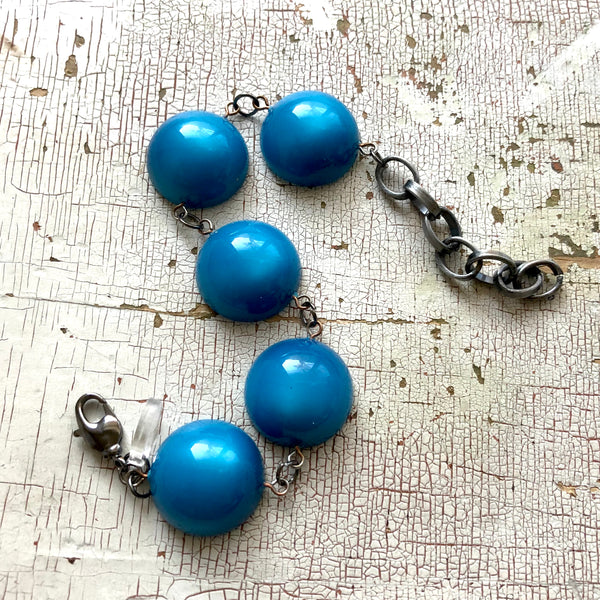 bright blue stations bracelet
