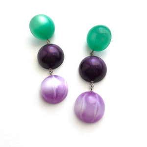 green purple earrings
