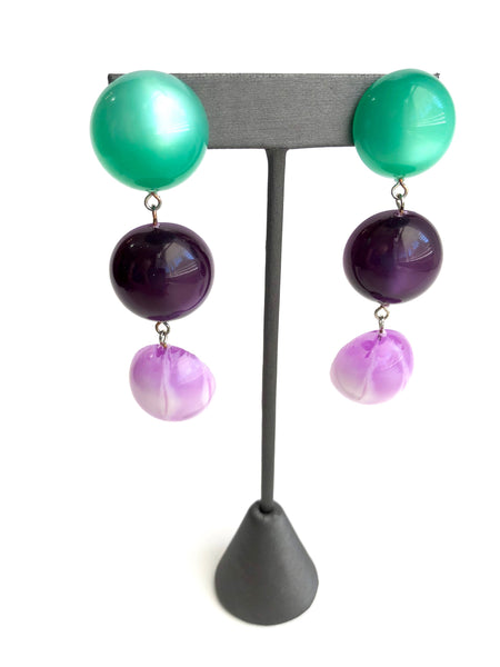 dangle earrings purple