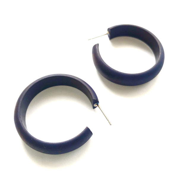 navy blue midi earrings