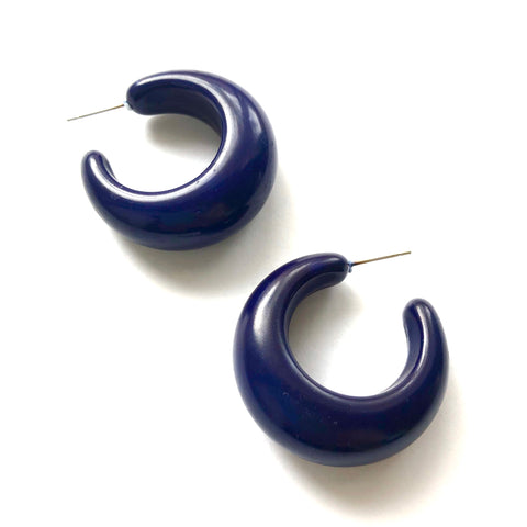 navy blue lucille hoops