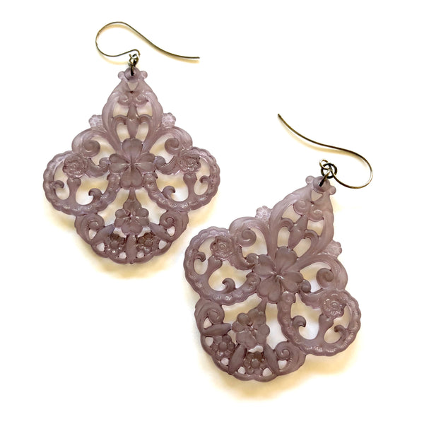 dark grey chandelier earrings