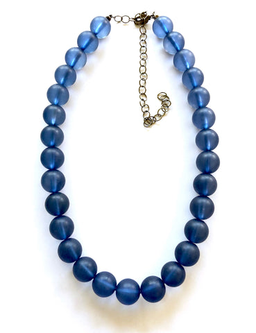 denim blue necklace