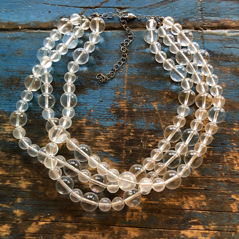 clear beaded necklace