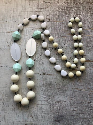 ivory mint green necklace