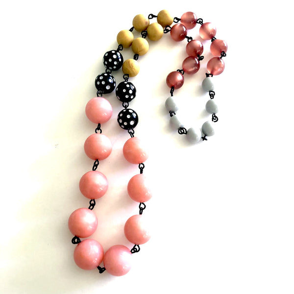 hand-linked beaded necklace