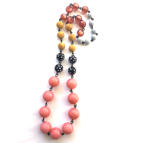 pink polka dot necklace