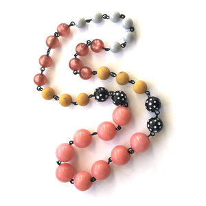 mustard pink carmen necklace