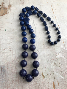 navy blue rope necklace