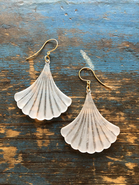 big fan drop earrings
