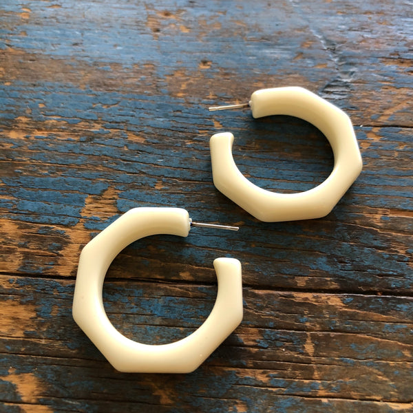 ivory Kay hoop earrings