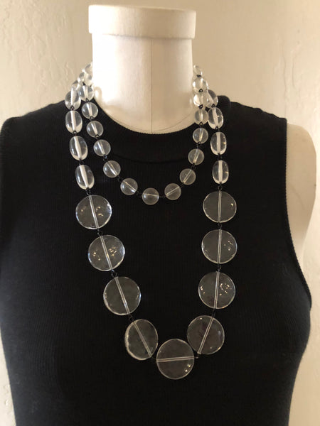 clear chain necklace