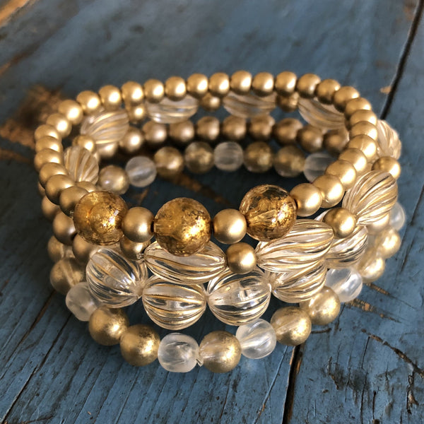 gold wash bracelets set