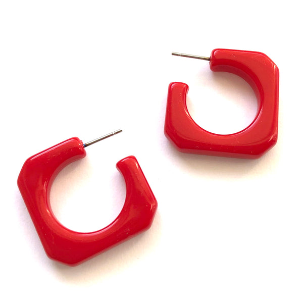 bright red earrings