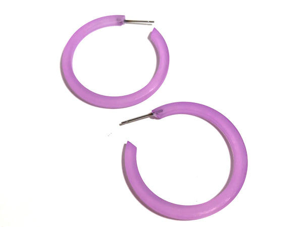 frosted lilac hoops